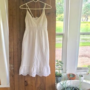 White Summer Dress - Converse One Star 🌸